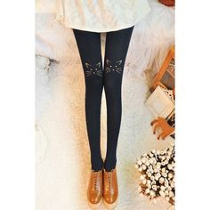 Stylish Embroidered Stretchy Leggings For Women