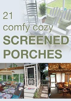 21 comfy cozy screened porches