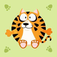 'Kugeltier+Tiger'+von+Michaela+Heimlich+bei+artflakes.com+als+Poster+oder+Kunstdruck+$16.63