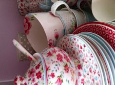 Green Gate Coffee Cups ~ Might be coffee cups, but I would have my tea in these gorgeous cups