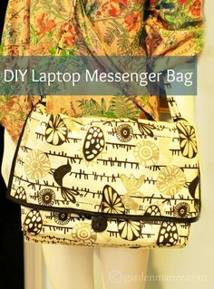 Learn how to make a messenger bag for your laptop. You only need a little more than 1 yard of fabric and some trim.
