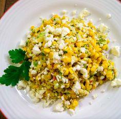 Mexican Street Corn Salad - Bulgursalat mit Mais und Avocados