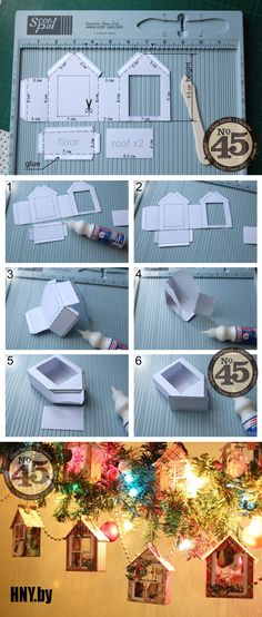 Diy Christmas Decorations Easy, New Years Decorations, Diwali Decorations, Christmas Crafts, New Year's Crafts, Diy And Crafts, Crafts For Kids, Cardboard Sculpture, Putz Houses