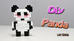 Panda 3D con Hama Beads /How to make Panda Perler Beads ʕ•ᴥ•ʔ
