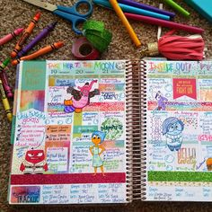 """""""Take her to the moon for me..."""" gets me every time This was #lastweek in my #eclifeplanner ✏ . (@crissy.victoria on Instagram) . . #Disney #Pixar #insideout #movie #film #love #planner #planneraddict #planning #plannercommunity #plannergirl #erincondren #journaling #journal #bujo #stationary #colorful #creative #doodle #disneylove #fun #crayola #crayons #scrapbooking #washi #glitter #art"""