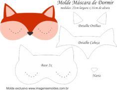 Molde Máscara de Dormir Raposa - Molde para EVA e Feltro e Artesanato