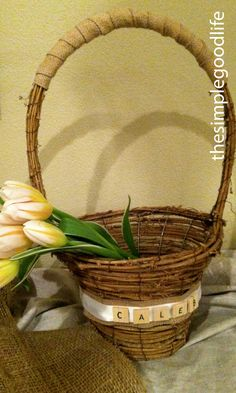 Pretty, but too simple for us Southern girls! Southern Girls, Easter Baskets, Life Is Good, Spring, Simple, Pretty, Gifts, Diy, Home Decor