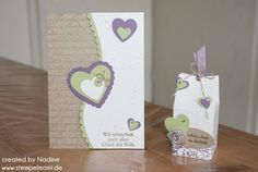 Hochzeitskarte Give Away Stampin Up Wedding Card Goodie Milchkarton