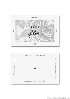 Logo & business card created for a Brazilian music group, Dona Flor. Design by Laia Loio Studio. Corporate Design, Graphic Design Branding, Identity Design, Business Card Design, Logo Design, Print Design, Typography Design, Identity Branding, Visual Identity