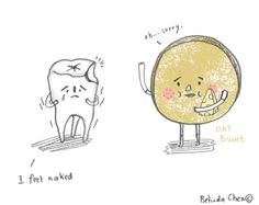 Oat my tooth! I was happily eating oat biscuits. Later I realised a significant piece of tooth filling has gone. (and it might be in my tummy) Has Gone, Tooth, Biscuits, Pencil, Sketches, Thoughts, Feelings, Crack Crackers, Drawings