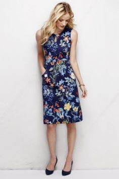 Ooooooh!  So pretty!  Similar to the beautiful pink one I bought last year.  Keyhole Sheath Dress - Print from Lands' End