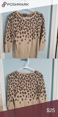 9e507bf6f73fa Lands End Cheetah Sweater 😻 Animal prints are the new Neutral! Pairs  perfectly with