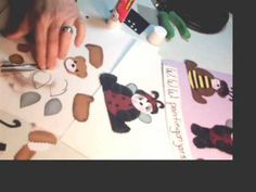 How to put a Paper Pieced Bear Together Part Bear Template, Paper Piecing, Bears, Projects To Try, Templates, Videos, Pattern, Crafts, Manualidades