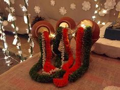 navratri decoration at home Wedding Hall Decorations, Diwali Decorations, Festival Decorations, Flower Decorations, Ganapati Decoration, Decoration For Ganpati, Mehndi Decor, Mehendi, Housewarming Decorations