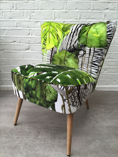Cocktail chair reupholstered in Christian Lacroix for Designers Guild Soft Jardin Exo'Chic velvet. Contact me if you would like one!