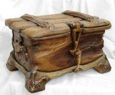 Neat wooden box.