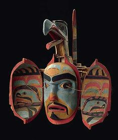 The Northwest Coastal People - Transformation mask (open), Haida Gwaii (Canada), 19th century