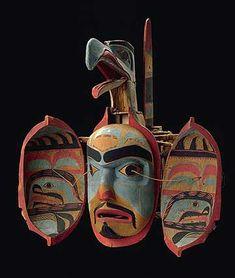 The Northwest Coastal People - Transformation mask (open), Haida Gwaii (Canada), 19th century