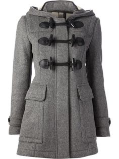 Burberry Brit Hooded Pea Coat. So adorable.