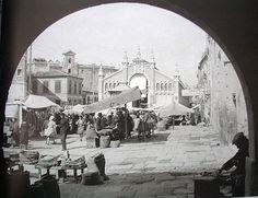 Murcia, plano san francisco, años 30 desde uno de los arcos de la audiencia (el almudi)