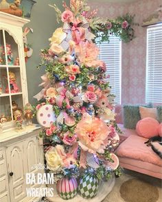 Spring Easter Table Setting & An Easter Spring Tree Flower Decorations, Christmas Decorations, Holiday Decor, Spring Decorations, Holiday Tree, Christmas Trees, Christmas Holiday, White Christmas, Holiday Images