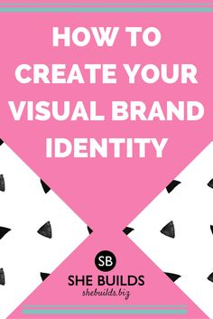 "Help people instantly recognize you + your brand and boost your ""street cred"" by creating a visual brand identity!"