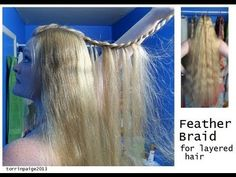 Feather Braid for Layered Hair