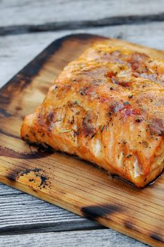 Grilled Cedar Plank Salmon - I made this and it was awesome. Have had cedar grilled salmon a few times when we go out to eat but was scared to try it at home. It was easy and the taste was great! Grilling Recipes, Fish Recipes, Seafood Recipes, Dinner Recipes, Cooking Recipes, Tilapia Recipes, Cooking Tips, Campfire Recipes, Rub Recipes