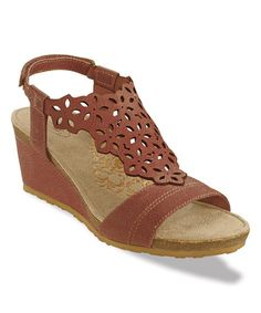 Look what I found on #zulily! Red Francesca Leather Wedge #zulilyfinds