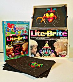 Lite Brite toy Lite Bright pegs by forrestinavintage. 90s Toys, Retro Toys, Vintage Toys, Lite Brite, 90s Childhood, My Childhood Memories, 80s Kids, I Remember When, Oldies But Goodies