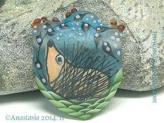 HEDGEHOG...handmade lampwork bead by by AnastasiaBEADS on Etsy