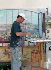 Damian Elwes is a British artist (born 1960) who lives and works in the United States. In his paintings he explores themes such as the relationship between humans and nature, the balance between male and female energy, creativity and the interconnections between all things. He is known for his paintings depicting the studios of the 20th century masters and for panoramas of the natural world which venture beyond the usual boundaries of landscape painting.