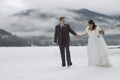 Facebook Fan, Mark Sandford & his bride, Rebecca in a #Winter #Whistler Wedding! Photo by Leanna Rathkelly