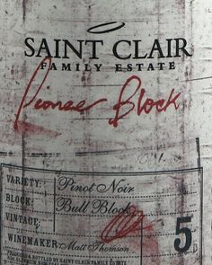 Saint Clair Bull Block 5 Pinot Noir With aromas of black cherries, plums and toasty oak the palate is rich and full with powerful dark fruit flavours, deep savoury notes and a lingering finish. http://www.comparestoreprices.co.uk/december-2016-4/saint-clair-bull-block-5-pinot-noir.asp