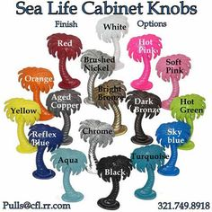 Palm Tree Cabinet Handle 169l Large Left Leaning