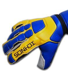 Ichnos Braja Graphite football goalkeeper gloves with protective finge – ICHNOS SPORTS