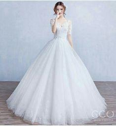 Luxury Wedding Dress, Princess Wedding Dresses, Dream Wedding Dresses, Bridal Dresses, Illusion Neckline Wedding Dress, Wedding Dress Sleeves, Most Beautiful Dresses, Pretty Dresses, Indian Gowns Dresses