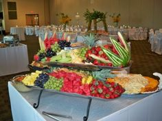 Reception Ideas For Fruit U0026 Cheese Buffet