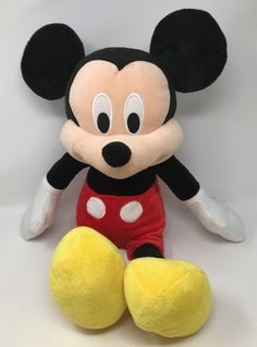 "Disney Deluxe Mickey Mouse BIG Jumbo Plush 25"" Tall #Disney"