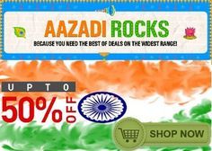 PaisaOne Aazadi Sale : Get Upto 50% OFF on Everything  on August 06 2016. Check details and Buy Online, through PaisaOne.