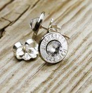 .223 Dainty Thin Bullet Stud Earrings; $24.95