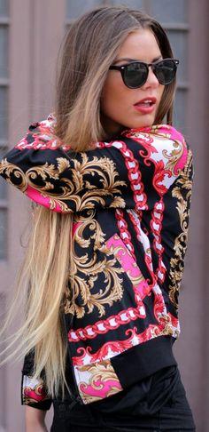Ponele color a tus looks con hermosos pañuelos. Este nos encanta ♥ Vía  angelsstyle.tumblr.com
