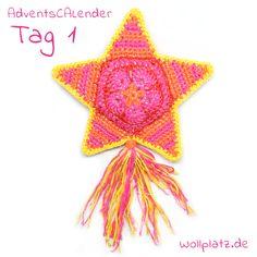 1. Dezember! Und hinter dem ersten Türchen unseres AdventsCALenders verbirgt sich die gratis Anleitung zu diesem prächtigen Stern. http://www.wollplatz.de/blog/wollplatz-adventscalender/