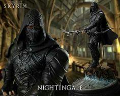 Nightingale - The Elder Scrolls - Skyrim The Elder Scrolls, Elder Scrolls V Skyrim, Skyrim Nightingale, Daedric Prince, Skyrim Cosplay, Video Game Decor, Video Games, Geek Decor, Samurai Art