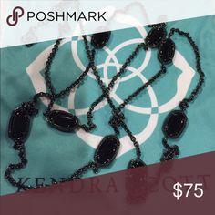 Kendra Scott Kelsie NWT Kendra Scott Kelsie necklace. Gunmetal with black stones. NWT Kendra Scott Jewelry Necklaces