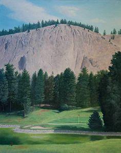 Kelowna Golf And Country Club Hole 13 by Rod McAuley Oil ~ 20 x 16