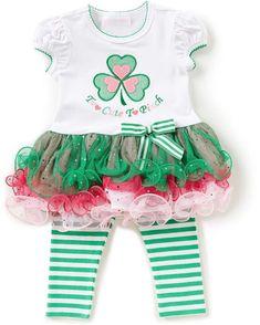 1c1caee07 Bonnie Jean Bonnie Baby Baby Girls Newborn-24 Months Saint Patrick's Day  Tutu Dress &