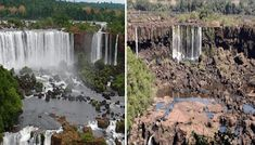 Iguazu Falls, the largest waterfall in the world, located between Argentina and Brazil, experienced a sharp drop in water volume due to lack of rain. Environmental News, Largest Waterfall, Iguazu Falls, Mystery Of History, Water Supply, Niagara Falls, World, Waterfalls, Fonts