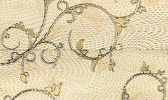 Element decorativ floral bej - 2 placi ceramice 60.8x61.8 cm Traviata Tubadzin Wreaths, Flooring, Floral, Design, Home Decor, Italia, Decoration Home, Door Wreaths, Room Decor