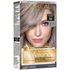 L'Oral Paris Fade – Defying Color + Shine System Permanent Hair Color – Soft Silver Blonde - Hairstyles For All Silver Blonde Hair, Red To Blonde, Dyed Blonde Hair, Shades Of Blonde, Blonde Balayage, Yellow Blonde Hair, Rose Blonde, Grey Hair Dye, Golden Blonde
